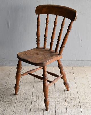 イギリス アンティーク家具 キッチンチェア 椅子 8352
