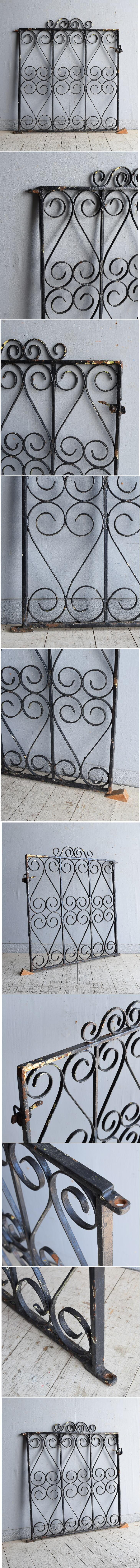 イギリス アンティーク アイアンフェンス ゲート柵 8411