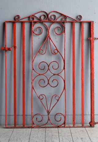 イギリス アンティーク アイアンフェンス ゲート柵 8412