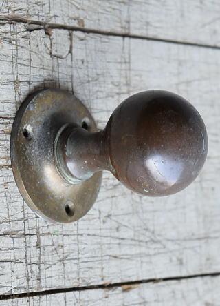イギリス アンティーク 真鍮製ドアノブ 建具金物 取っ手 8430