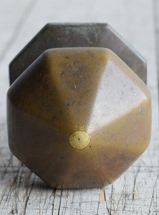 イギリス アンティーク 真鍮製ドアノブ 建具金物 取っ手 8431
