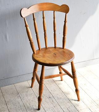 イギリス アンティーク家具 キッチンチェア 椅子 8459
