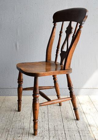 イギリス アンティーク家具 キッチンチェア 椅子 8461