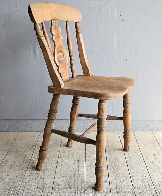 イギリス アンティーク家具 キッチンチェア 椅子 8471