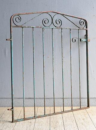 イギリス アンティーク アイアンフェンス ゲート柵 ガーデニング 8502