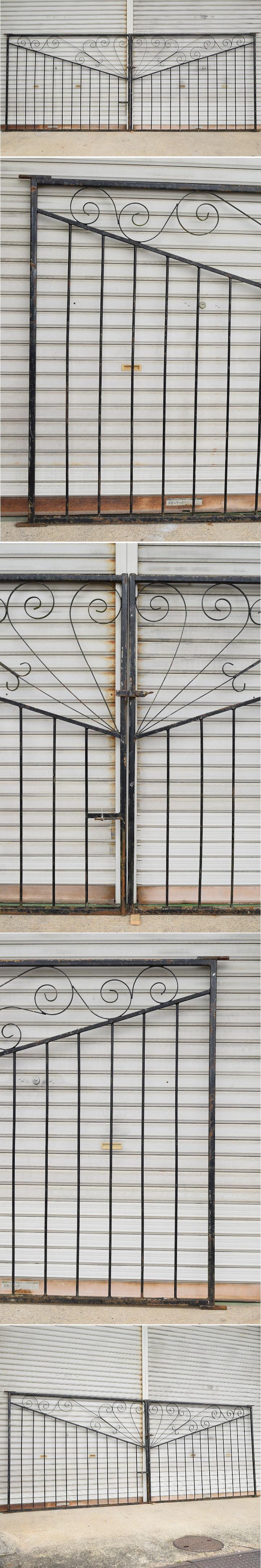 イギリス アンティーク アイアンフェンス ゲート柵 8516