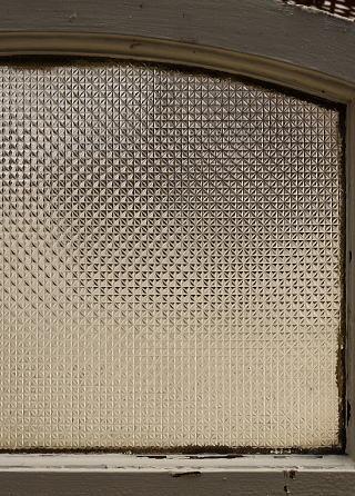 イギリス アンティーク 窓 プレスガラス 8523