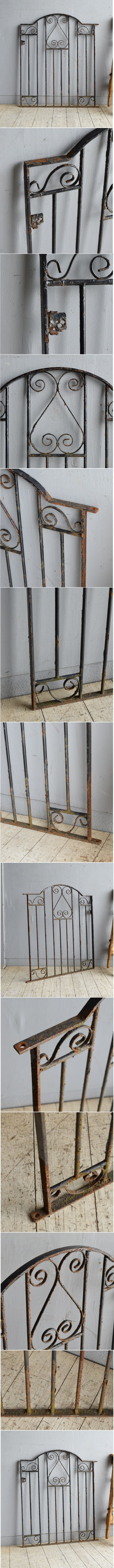イギリス アンティーク アイアンフェンス ゲート柵 ガーデニング 8563