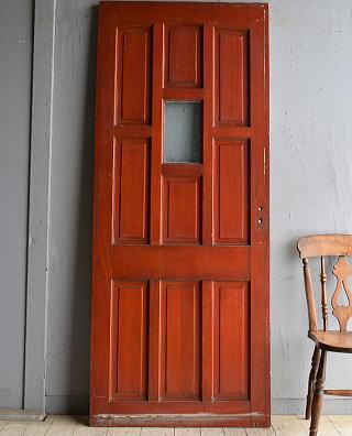 イギリス アンティーク ガラス入り木製ドア 扉 建具 8578