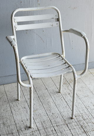 フレンチ アンティーク スタッキング ガーデンチェア 椅子 8584