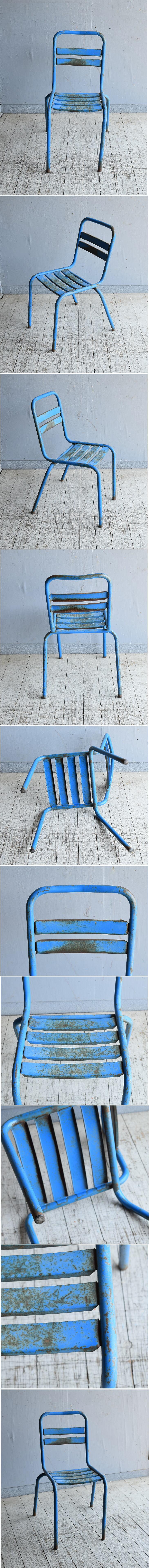 フレンチ アンティーク スタッキング ガーデンチェア 椅子 8617