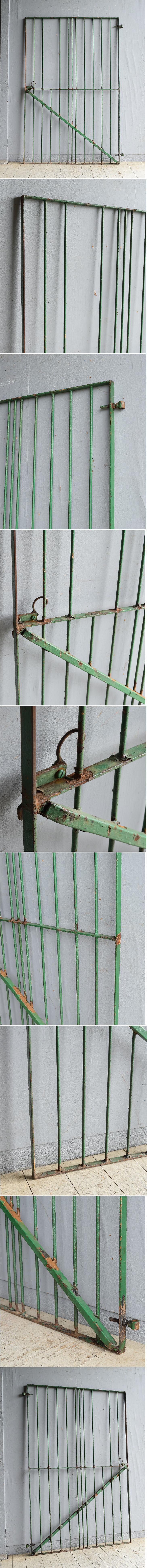 イギリスアンティーク アイアンフェンス ゲート柵 ガーデニング 8626