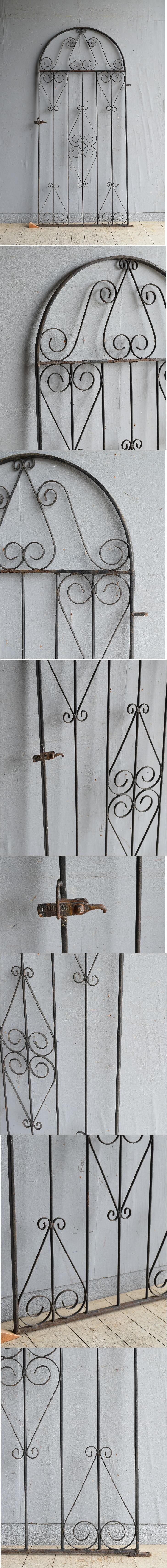 イギリスアンティーク アイアンフェンス ゲート柵 ガーデニング 8628