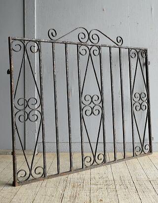 イギリス アンティーク アイアンフェンス ゲート柵 ガーデニング 8665