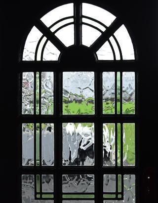 イギリス アンティーク ステンドグラス入りドア 扉 建具 8720