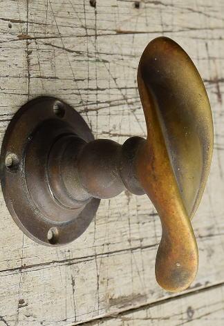 イギリス アンティーク 真鍮 ドアノブ 建具金物 握り玉 8744