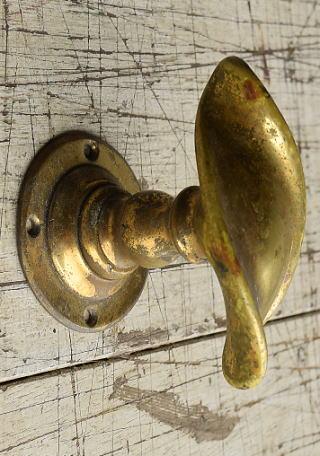 イギリス アンティーク 真鍮 ドアノブ 建具金物 握り玉 8746