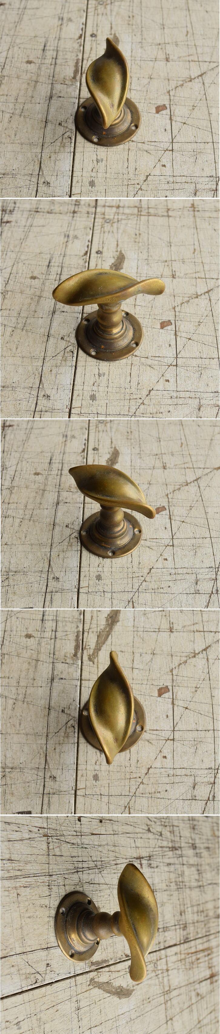 イギリス アンティーク 真鍮 ドアノブ 建具金物 握り玉 8747