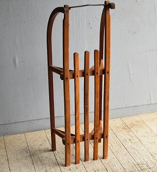 (旧)東ドイツ製 アンティーク 木製ソリ 8750