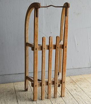 (旧)東ドイツ製 アンティーク 木製ソリ 8751