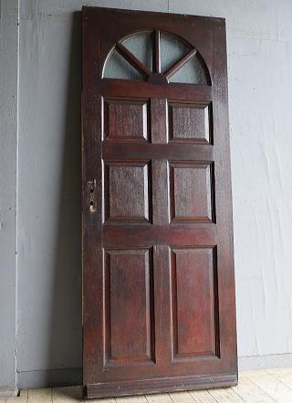 イギリス アンティーク ガラス入りドア 扉 建具 8755
