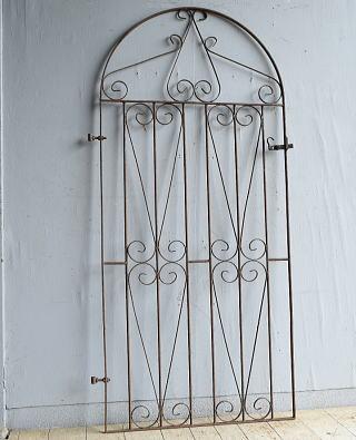 イギリスアンティーク アイアンフェンス ゲート柵 ガーデニング 8764