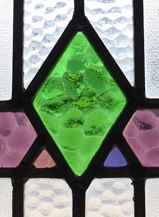 イギリス アンティーク ステンドグラス 幾何学 8777