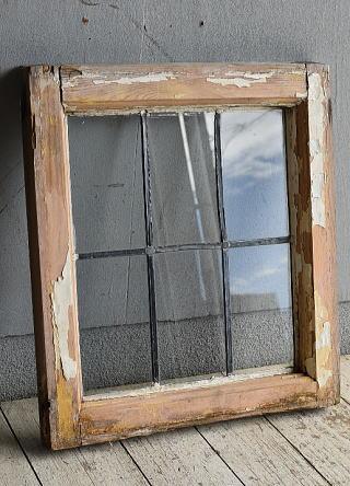 イギリス アンティーク 窓 無色透明 8783