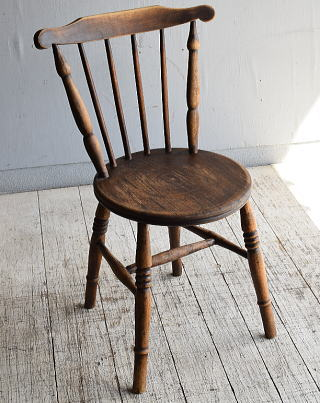 イギリス アンティーク家具 キッチンチェア 椅子 8791