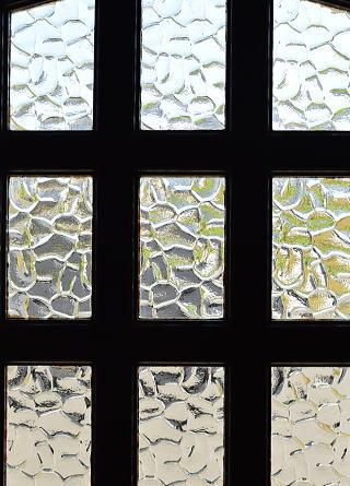 イギリス アンティーク ガラス入りドア 扉 建具 8797