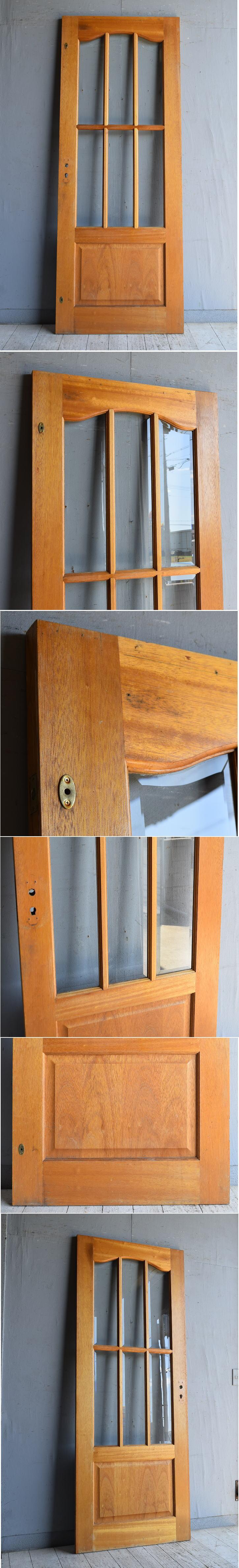 イギリス アンティーク ガラス入りドア 扉 建具 8798