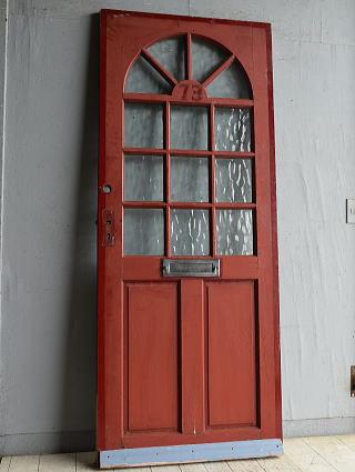 イギリス アンティーク ガラス入りドア 扉 建具 8814