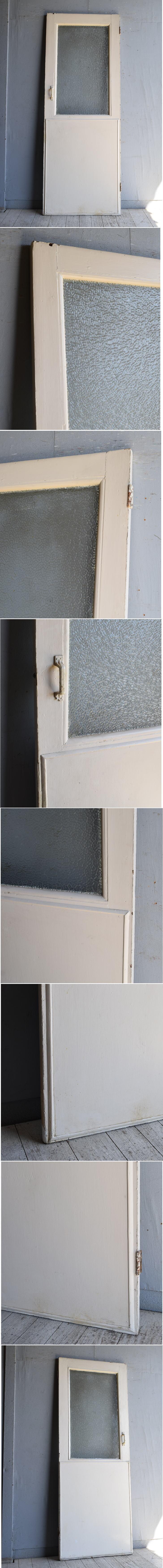 イギリス アンティーク ガラス入りドア 扉 建具 8818