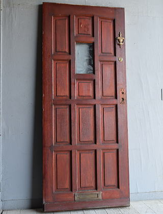 イギリス アンティーク ガラス入りドア 扉 建具 8830