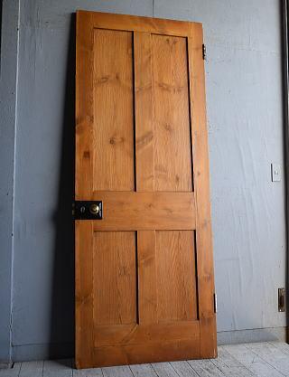 イギリス アンティーク パインドア 扉 建具 8848