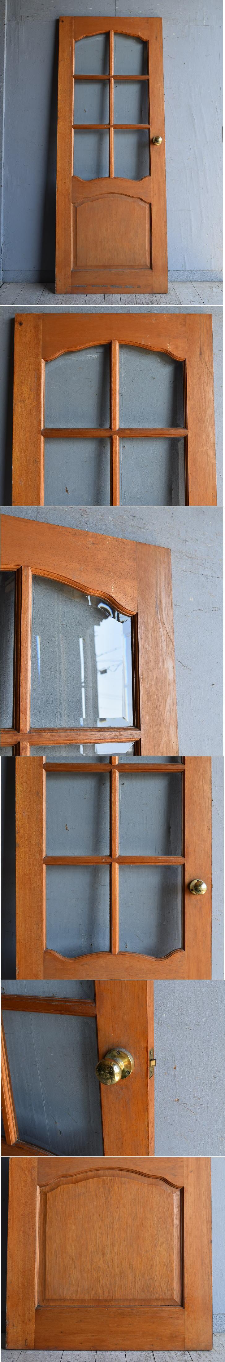 イギリス アンティーク ガラス入りドア 扉 建具 8874