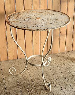 フレンチ アンティーク アイアン ガーデンテーブル 8911