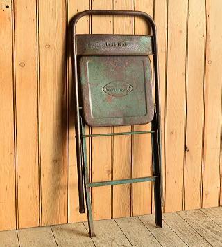 フレンチ アンティーク フォールディング アイアンチェア 椅子 8919