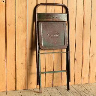 フレンチ アンティーク フォールディング アイアンチェア 椅子 8920