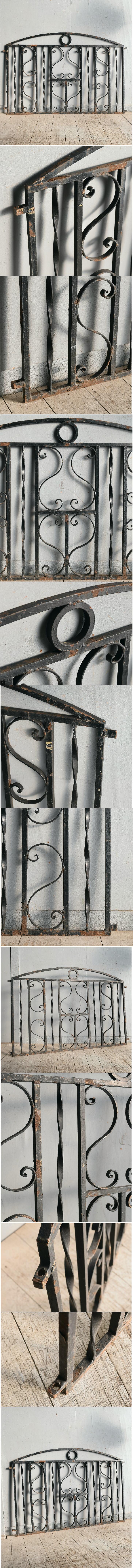 イギリス アンティーク アイアンフェンス ゲート柵 ガーデニング 8958