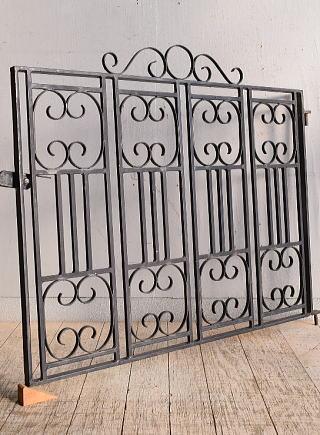 イギリス アンティーク アイアンフェンス ゲート柵 ガーデニング 8966