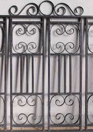 イギリス アンティーク アイアンフェンス ゲート柵 ガーデニング 8968