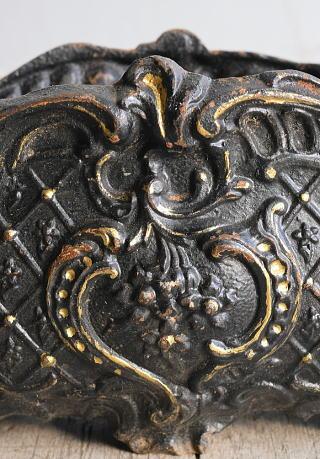 フレンチ アンティーク 鉄製 プランター 植木鉢 8987