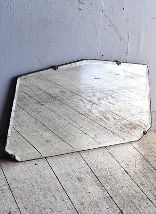イギリス アンティーク  壁掛けミラー 鏡 9056