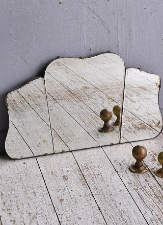 イギリス アンティーク  壁掛けミラー 鏡 9059