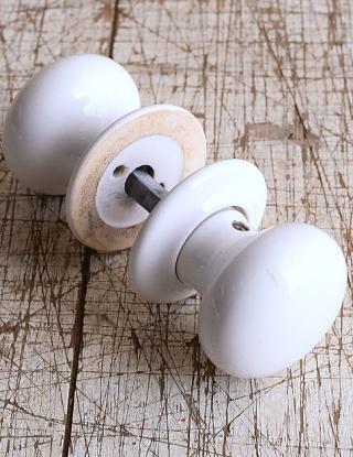 イギリス 陶器製 ドアノブ 建具金物 握り玉 9125