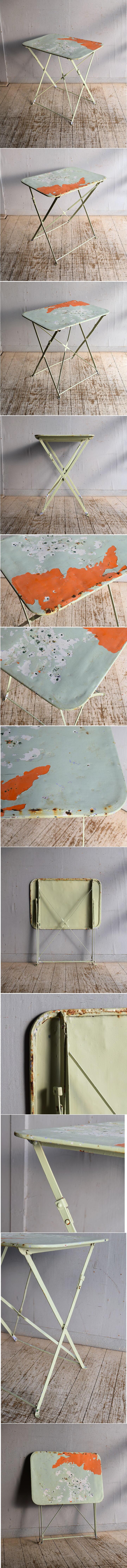 フレンチ アンティーク アイアン ガーデンテーブル 9132