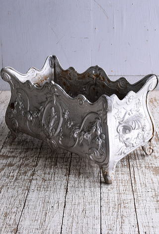 フレンチ アンティーク 鉄製 プランター 植木鉢 9149