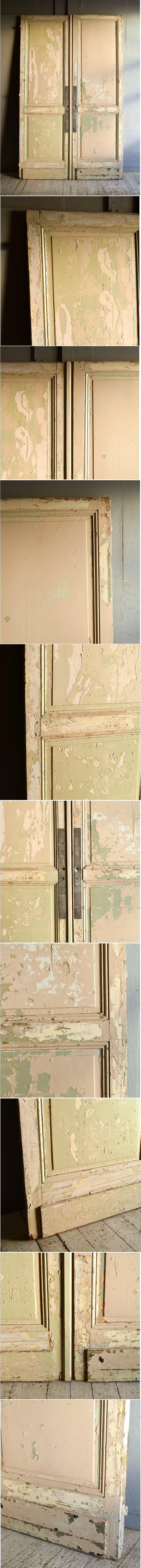 フレンチ アンティーク ドア 扉 建具×2  9219