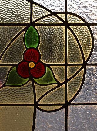 イギリス アンティーク ステンドグラス 幾何学 9258